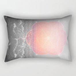 The Sun Is But A Morning Star (Mono Geometric Sunrise) Rectangular Pillow