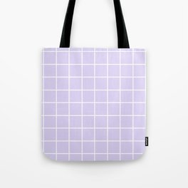 Lavender white minimalist grid pattern Tote Bag