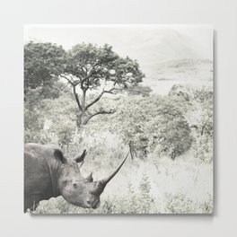 africa is a feeling - rhinocerous Metal Print