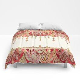 Royal Red Art Deco Double Drop Comforters