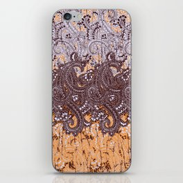 paisley swirls in earth tones iPhone Skin