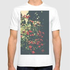 Summer Roses Series  - I -   Mens Fitted Tee White MEDIUM