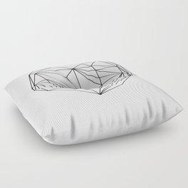 Heart Graphic (black on white) Floor Pillow