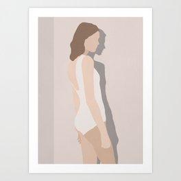 Minimal Art Girl 5 Art Print