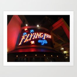 The Flying Fish Cafe Sign Art Print