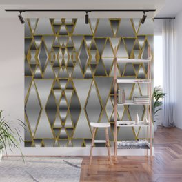 Gray Ombre Abstract Geometry Wall Mural