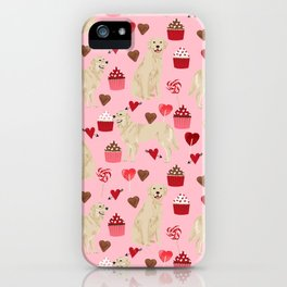 Golden Retriever cute valentines day must have dog gifts pet portraits custom dog lover valentines iPhone Case