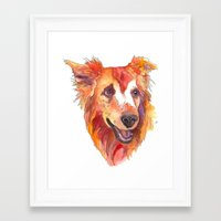 golden retriever Framed Art Prints featuring Golden Retriever by Christie Martinez