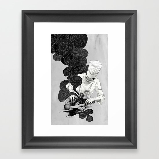 Galactic Chef Framed Art Print