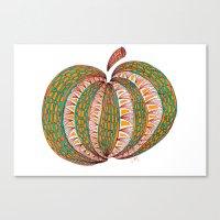 pumpkin Canvas Prints featuring Pumpkin by Laura Maxwell