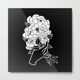 Peony Floral Bouquet Metal Print