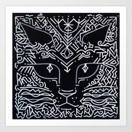 magic and cat Art Print