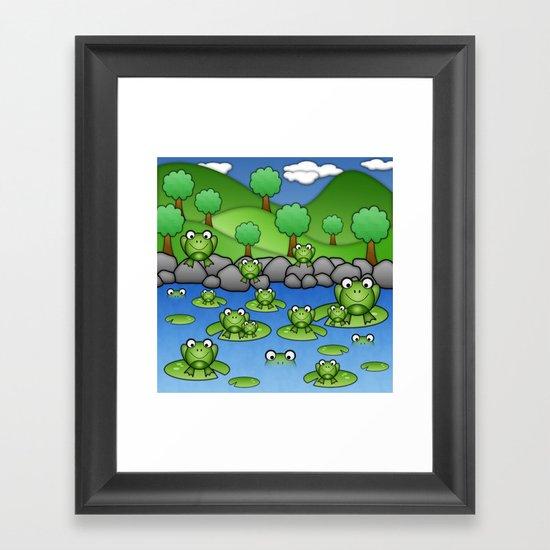 Froggies!  Framed Art Print