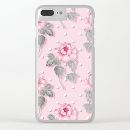 Shabby Rose Clear iPhone Case
