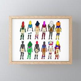 Superhero Butts - Girls Superheroine Butts LV Framed Mini Art Print