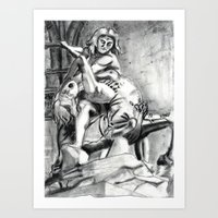 Bad Ass Ladies of Florence: Hercules Art Print