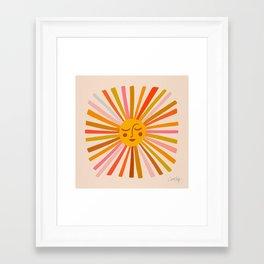 Sunshine – Retro Ochre Palette Framed Art Print