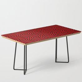 Red Abstract Modern Pattern Art Design Coffee Table