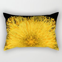 Golden floral sun of an abstract night Rectangular Pillow