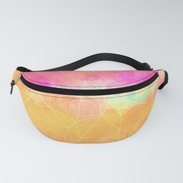 Modern Pastel Rainbow Cascade Abstract Fanny Pack