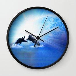 Orca Dance Wall Clock