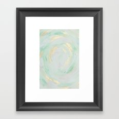 abstract mint and gold Framed Art Print
