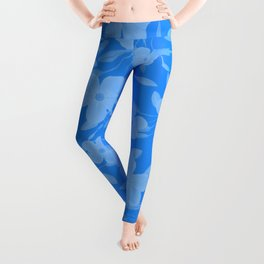 Forget-Me-Not Flowers in Blue Leggings
