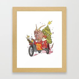 merry Xmas Framed Art Print