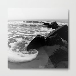 Morning Tide at Folly Beach Metal Print