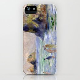 Moulin Huet Bay, Guernsey by Pierre-Auguste Renoir iPhone Case