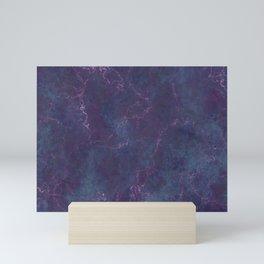 Grunge dark violet Mini Art Print
