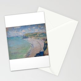 Beach in Pourville - Claude Monet Stationery Cards