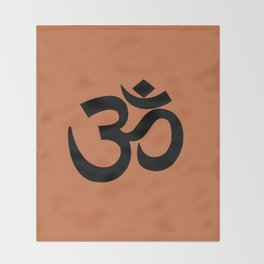 Om/Aum Throw Blanket
