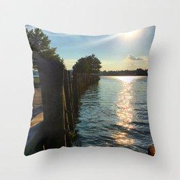 Shimmering Long Dock Park - Beacon NY Throw Pillow