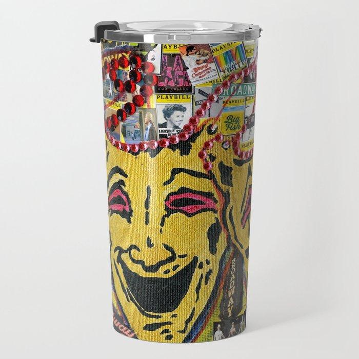 Broadway Theatre Masks Collage Travel Mug