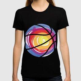 Basketball sun shade color sports fan gift T-shirt