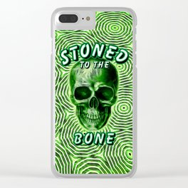 Stoned To The Bone Clear iPhone Case