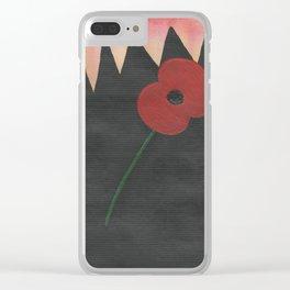 Dawn Poppy Clear iPhone Case
