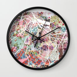 Honfleur map Wall Clock