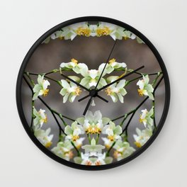 All over Orchids Wall Clock