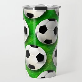 Soccer Ball Football Pattern Travel Mug