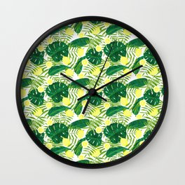 Palms and lemons Wall Clock