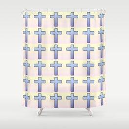 Christian Cross 47 Shower Curtain