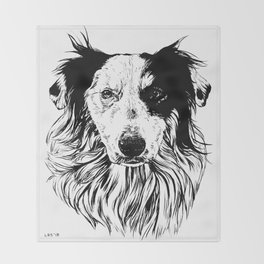 Border Collie Throw Blanket