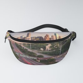 Be Someone in Downtown Houston, Texas during sunset Fanny Pack
