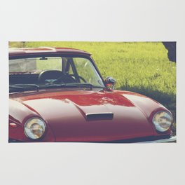 Triumph spitfire, classic english sports car, hasselblad photo Rug