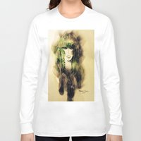 emerald Long Sleeve T-shirts featuring Emerald by Cornelia Baciu