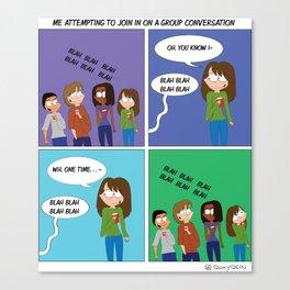 Group Conversations Canvas Print