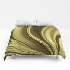 Abstract Fractal Colorways 02 Simple Gold Comforters