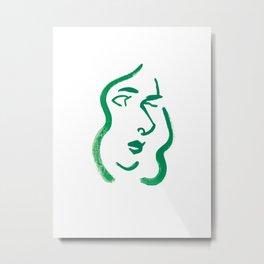 lady Metal Print
